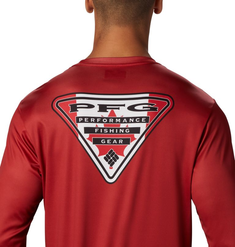 Men's PFG Terminal Tackle™ Country Triangle Long Sleeve Shirt Men's PFG Terminal Tackle™ Country Triangle Long Sleeve Shirt, a3