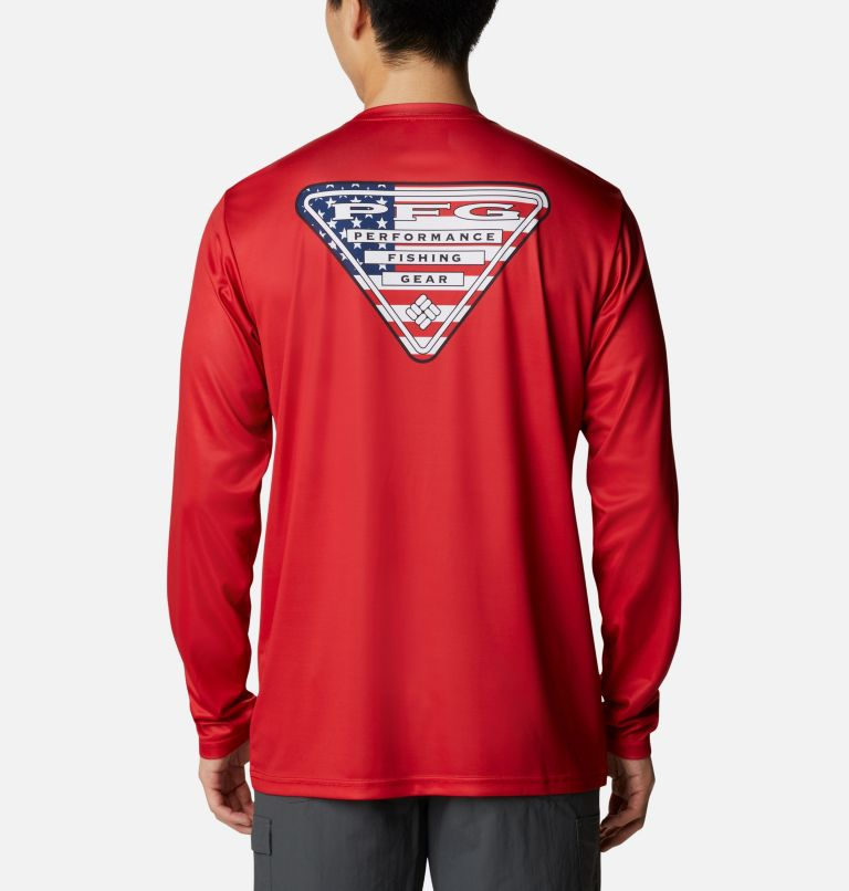 Men's PFG Terminal Tackle™ Country Triangle Long Sleeve Shirt Men's PFG Terminal Tackle™ Country Triangle Long Sleeve Shirt, front
