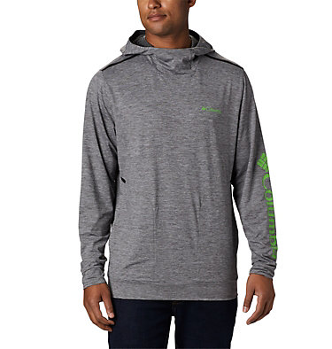 Men's Tech Trail™ Pullover Hoodie Tech Trail™ Pullover Hoodie   437   L, City Grey, front