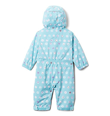 Infant Critter Jitters™ Printed Rain Suit Critter Jitters™Printed Rain Suit | 481 | 0/3, Aquatint Polka Pets, back