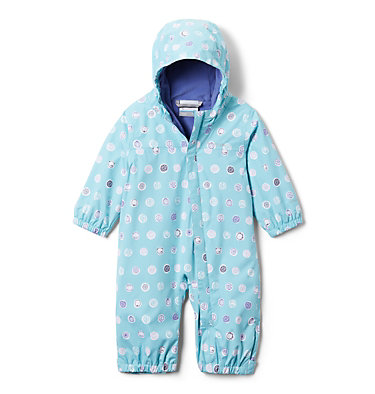 Infant Critter Jitters™ Printed Rain Suit Critter Jitters™Printed Rain Suit | 481 | 0/3, Aquatint Polka Pets, front