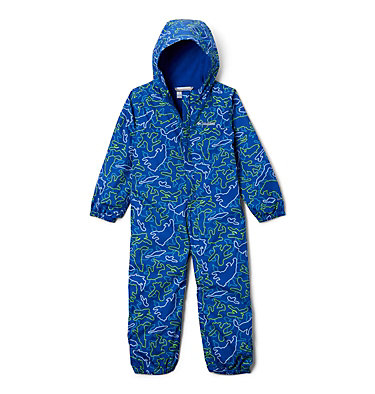 Toddler Critter Jitters™ Printed Rain Suit Critter Jitters™Printed Rain Suit | 481 | 2T, Azul Camo Critters, front