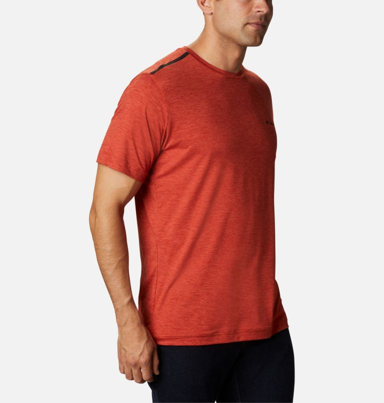 Tech Trail™ Crew Neck | 844 | S Men's Tech Trail™ Crew Neck Shirt, Flame, a3