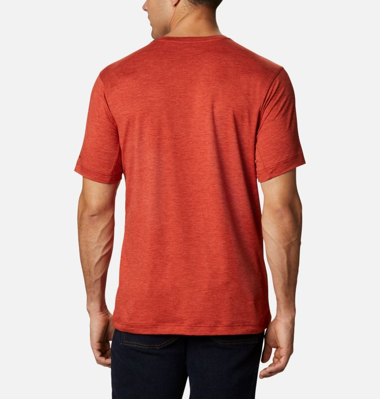 Tech Trail™ Crew Neck | 844 | S Men's Tech Trail™ Crew Neck Shirt, Flame, back