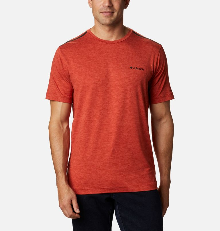 Tech Trail™ Crew Neck | 844 | S Men's Tech Trail™ Crew Neck Shirt, Flame, front