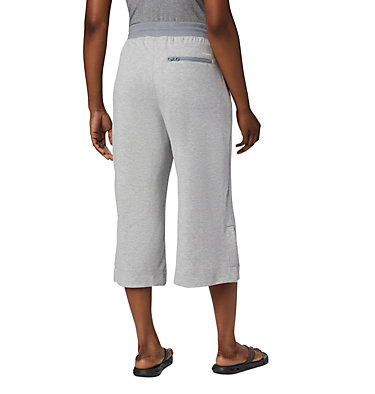 Women's Columbia Park™ Wide Leg Capri Columbia Park™ Wide Leg Capri | 032 | M, Tradewinds Grey Heather, back
