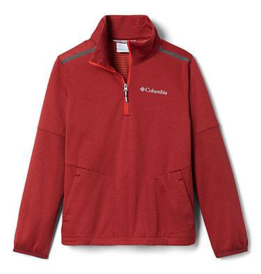 Kids' Tech Trek™ Pullover Tech Trek™ 1/4 Zip | 039 | L, Red Jasper, front