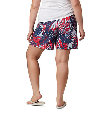Women's PFG Tidal™ II Shorts - Plus Size Tidal™ II Short | 867 | 1X, Collegiate Navy Tropical Print, back