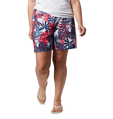 Women's PFG Tidal™ II Shorts - Plus Size Tidal™ II Short | 867 | 1X, Collegiate Navy Tropical Print, front