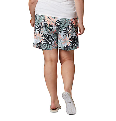 Women's PFG Tidal™ II Shorts - Plus Size Tidal™ II Short | 464 | 3X, Tiki Pink Tropical Print, back
