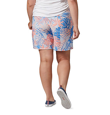 Women's PFG Tidal™ II Shorts - Plus Size Tidal™ II Short | 867 | 1X, Lychee Tropical Print, back