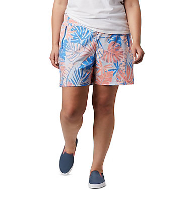 Women's PFG Tidal™ II Shorts - Plus Size Tidal™ II Short | 658 | 1X, Lychee Tropical Print, front
