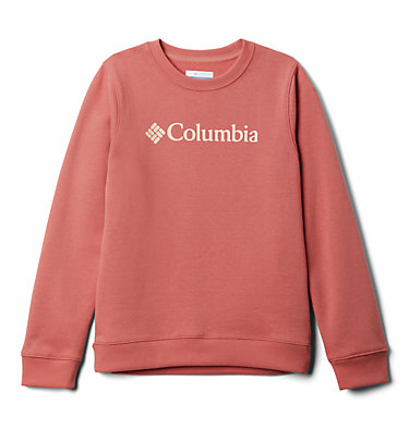 Youth Park™ French Terry Crew Columbia Park™ French Terry Crew | 466 | S, Dark Coral, front