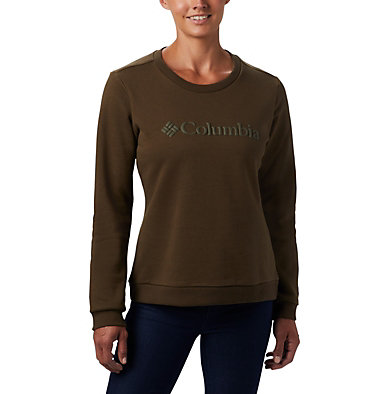 Columbia™ Logo Crew Top da donna Columbia™ Logo Crew | 011 | XS, Olive Green, front