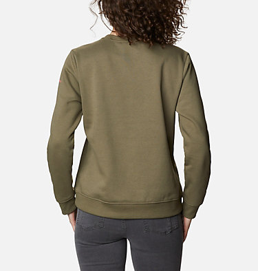 Columbia™ Logo Crew Top da donna Columbia™ Logo Crew | 011 | XS, Stone Green, back