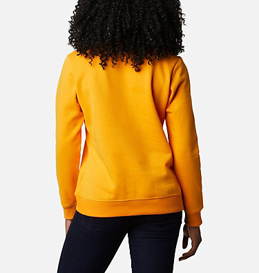 Columbia™ Logo Crew Top da donna Columbia™ Logo Crew | 011 | XS, Bright Marigold, back