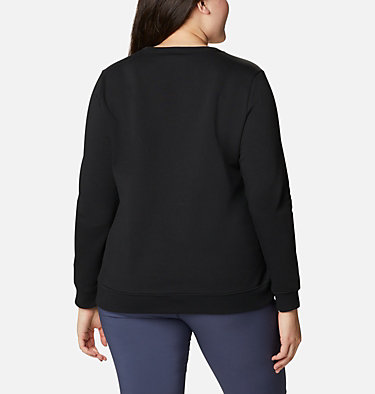 Women's Columbia™ Logo Crew Top - Plus Size Columbia™ Logo Crew | 397 | 1X, Black, back