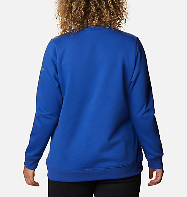 Women's Columbia™ Logo Crew Top - Plus Size Columbia™ Logo Crew | 397 | 1X, Lapis Blue, back