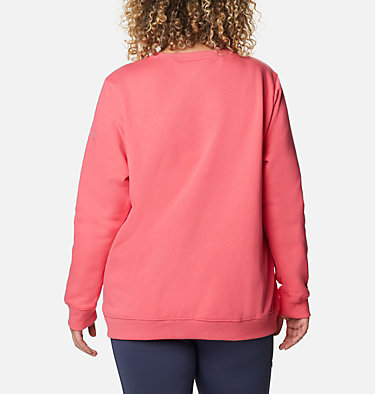 Women's Columbia™ Logo Crew Top - Plus Size Columbia™ Logo Crew | 397 | 1X, Bright Geranium, back
