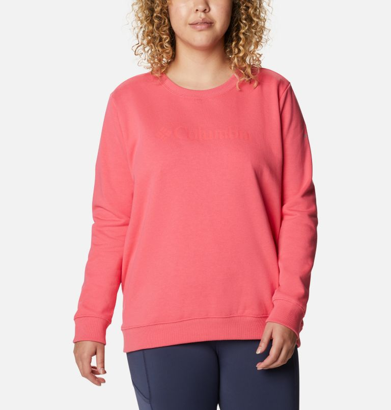 Women's Columbia™ Logo Crew Top - Plus Size Women's Columbia™ Logo Crew Top - Plus Size, front