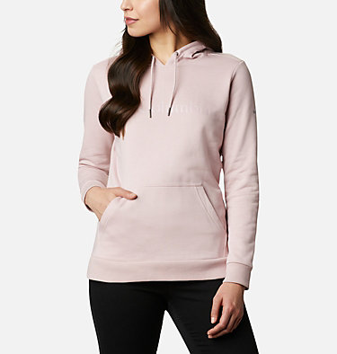 Women's Columbia™ Logo Hoodie Columbia™ Logo Hoodie | 011 | XS, Mineral Pink, front