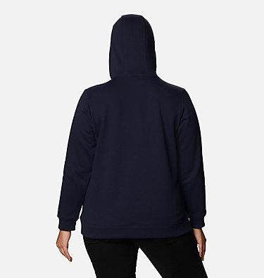 Women's Columbia™ Logo Hoodie - Plus Size Columbia™ Logo Hoodie | 673 | 1X, Dark Nocturnal, back