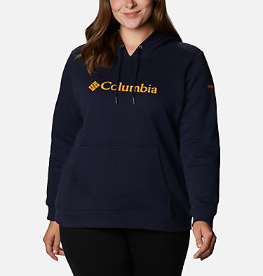 Women's Columbia™ Logo Hoodie - Plus Size Columbia™ Logo Hoodie | 673 | 1X, Dark Nocturnal, front