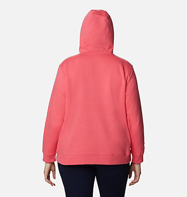 Women's Columbia™ Logo Hoodie - Plus Size Columbia™ Logo Hoodie | 673 | 1X, Bright Geranium, back