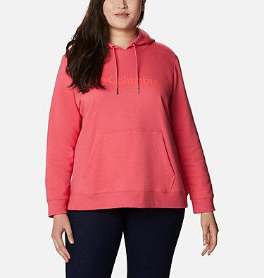 Women's Columbia™ Logo Hoodie - Plus Size Columbia™ Logo Hoodie | 673 | 1X, Bright Geranium, front