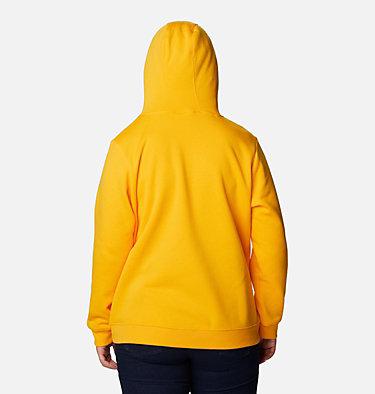 Women's Columbia™ Logo Hoodie - Plus Size Columbia™ Logo Hoodie | 673 | 1X, Bright Marigold, back