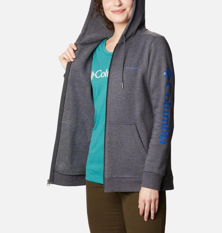 Columbia™ Logo Full Zip | 011 | S Women's Columbia™ Logo Hoodie, Shark Heather, a3