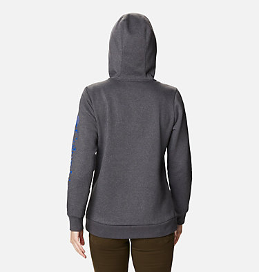 Women's Columbia™ Logo Full Zip Hoodie Columbia™ Logo Full Zip | 618 | L, Shark Heather, back