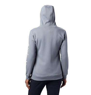 Women's Columbia™ Logo Full Zip Hoodie Columbia™ Logo Full Zip | 618 | L, Tradewinds Grey Heather, back