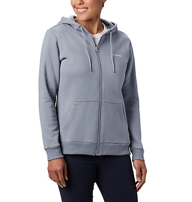 Women's Columbia™ Logo Full Zip Hoodie Columbia™ Logo Full Zip | 618 | L, Tradewinds Grey Heather, front