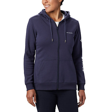 Women's Columbia™ Logo Full Zip Hoodie Columbia™ Logo Full Zip | 618 | L, Nocturnal, front