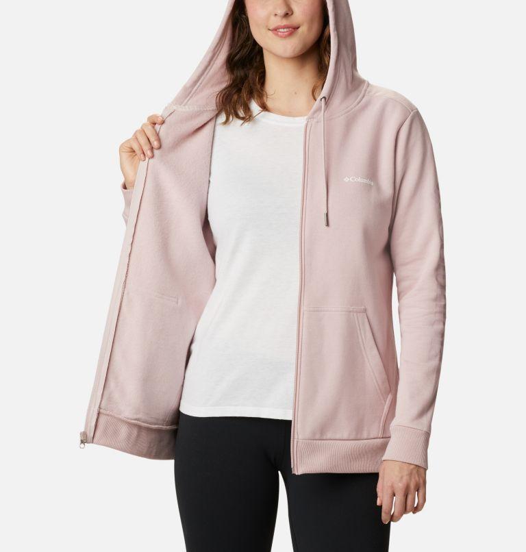 Columbia™ Logo Full Zip | 618 | M Women's Columbia™ Logo Full Zip Hoodie, Mineral Pink, a3