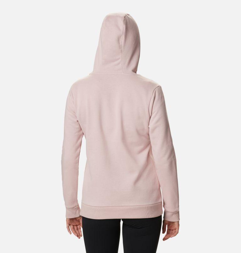 Columbia™ Logo Full Zip | 618 | M Women's Columbia™ Logo Full Zip Hoodie, Mineral Pink, back