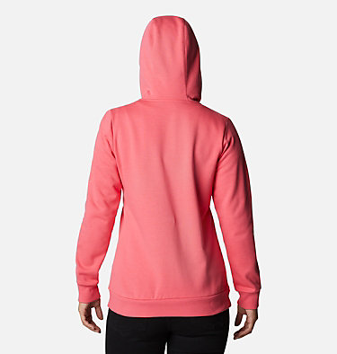 Women's Columbia™ Logo Full Zip Hoodie Columbia™ Logo Full Zip | 618 | L, Bright Geranium, back