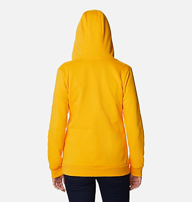 Women's Columbia™ Logo Full Zip Hoodie Columbia™ Logo Full Zip | 618 | L, Bright Marigold, back