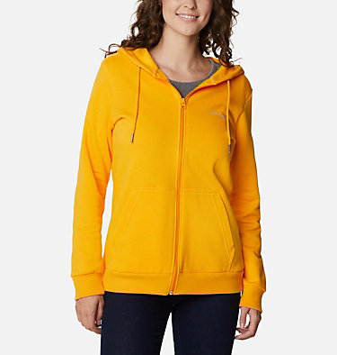 Women's Columbia™ Logo Full Zip Hoodie Columbia™ Logo Full Zip | 618 | L, Bright Marigold, front