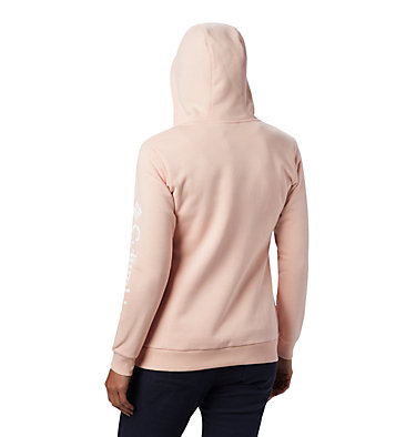 Women's Columbia™ Logo Full Zip Hoodie Columbia™ Logo Full Zip | 618 | L, Peach Cloud, back