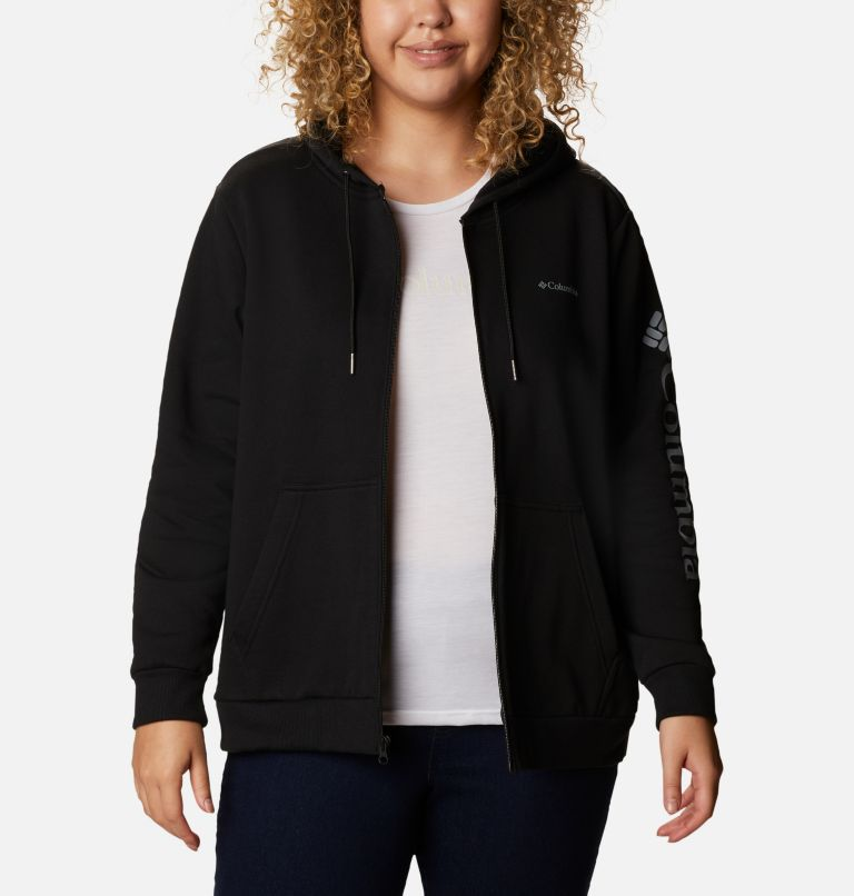 Women's Columbia™ Logo Full Zip Hoodie - Plus Size Women's Columbia™ Logo Full Zip Hoodie - Plus Size, front