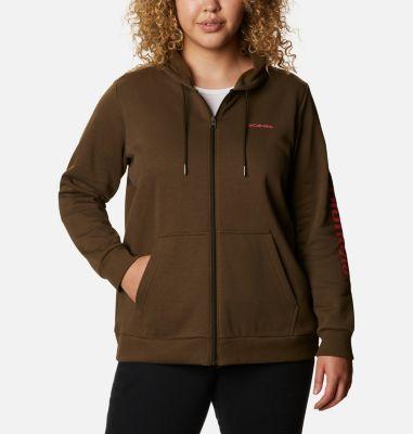 Women's Columbia™ Logo Full Zip Hoodie - Plus Size   Columbia Sportswear
