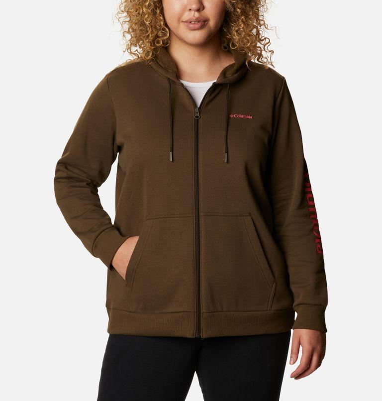 Women's Columbia™ Logo Full Zip Hoodie - Plus Size Women's Columbia™ Logo Full Zip Hoodie - Plus Size, front