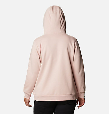 Women's Columbia™ Logo Full Zip Hoodie - Plus Size Columbia™ Logo Full Zip | 011 | 1X, Mineral Pink, back