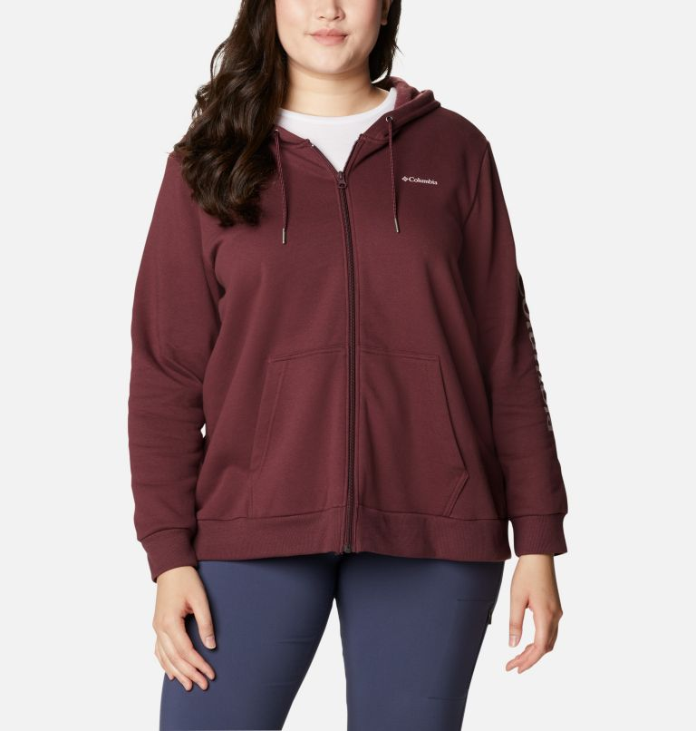 Women's Columbia™ Logo Full Zip Hoodie - Plus Size Women's Columbia™ Logo Full Zip Hoodie - Plus Size, a4