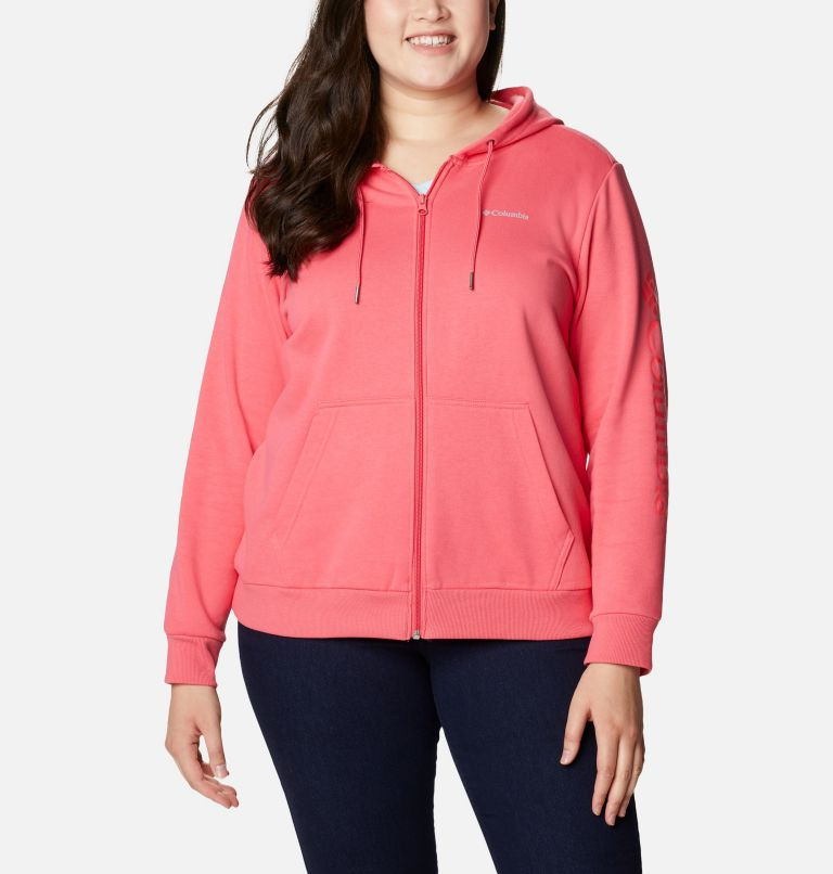 Women's Columbia™ Logo Full Zip Hoodie - Plus Size Women's Columbia™ Logo Full Zip Hoodie - Plus Size, a4