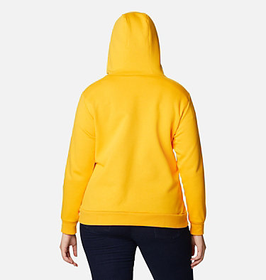 Women's Columbia™ Logo Full Zip Hoodie - Plus Size Columbia™ Logo Full Zip | 011 | 1X, Bright Marigold, back