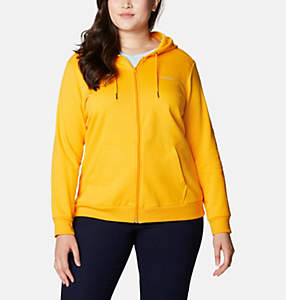 Women's Columbia™ Logo Full Zip Hoodie - Plus Size