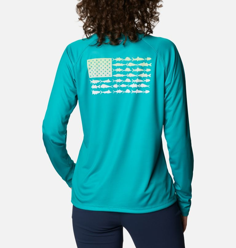 Women's Tidal Tee™ PFG Fish Flag Long Sleeve T-Shirt Women's Tidal Tee™ PFG Fish Flag Long Sleeve T-Shirt, back